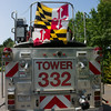 Bel Air Fire Co, Camden County NJ, Tower 332,  2009 Spartan-Crimson 100' RM, (C) Edan Davis, www sjfirenews com  (6)