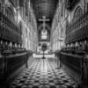 Peterborough Cathedral Black & White Version by Art Hakker