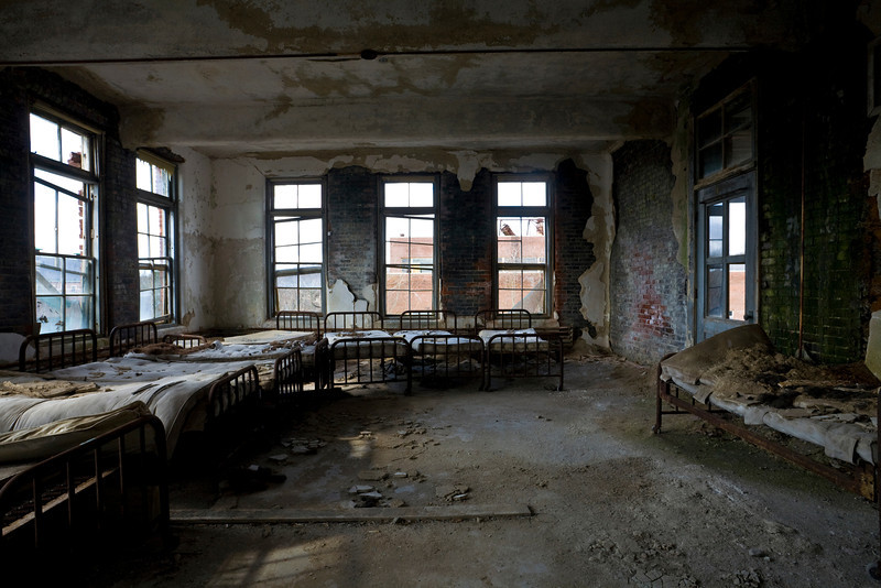 Patient dormitory at Norwich State Hospital.