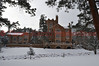 Glen Eyrie Castle seen during the wintertime. Colorado Springs, Colorado