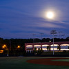 The view of the full moon across Ken Dugan Field.