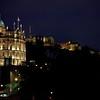 Edinburgh Castle and Bank House night scene