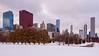 Grant Park in Winter Chicago