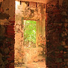 Windows of an old sugar mill, St. John, USVI