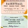 1960, Cathy Askew's Scrap Book, 1959-1963 Basketball Tickets