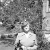 Neg, Mayme Anderson Shaw outside with had and suit, taken in Seattle