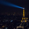 eiffel tower at night from tour montparnasse
