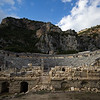 Ancient Greek coliseum at the dead city of Myra in Antalya.