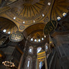 Christian altar and Muslim mimbar inside the Hagia Sophia in  Istanbul.