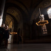 Afternoon light during an engagement photo shoot in the Hagia Sophia in Istanbul.