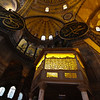 Sultan's private room and Virgin Mary Fresco in the Hagia Sophia in Istanbul.
