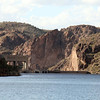 A slightly closer look at Mormon Flat Dam, which generates 57,000 KW of hydroelectric  power.