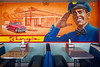 The mural at Bing's Burger Station, Old Town Cottonwood, Arizona, USA.