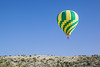 A hot air balloon over the Coconino National Forest, near Sedona, Arizona, USA.