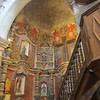 Mission San Xavier del Bac, south of Tucson. The interior is full of wonderful and elaborate paintings. Originally established by the Jesuits in 1700; largely destroyed by the Tohono O'odham (Pima) people circa 1751. Rebuilt in the late 1700s.