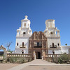Mission San Xavier del Bac, south of Tucson. Originally established by the Jesuits in 1700; largely destroyed by the Tohono O'odham (Pima) people circa 1751. Rebuilt in the late 1700s. The interior is spectacular.