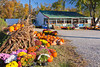 A roadside fruit stand with a fall display near Bull Shoals, Arkansas, USA.