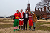 Jimbo, CharlieF, Toner, Adrienne, Megan on the mall - 12-14-2013