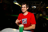 Mark and a blue green drink - 2014-08-13