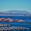 Railroad Tunnel Trail overlooking Lake Mead Marina<br /> <br /> Fantastic early morning light, the sky and water were almost identical colors!