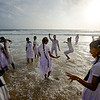 Children from a school in Sri Lanka's interior visit the beach, most for the first time, on a school trip to the nation's capital, Colombo, Sri Lanka. They danced, and celebrated their experience.