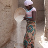 199_Djenne Old Town  Young Woman Cleaning the Grains
