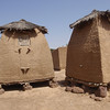 217_Parandougou   A Typical Granary with a Conical Straw Roofs