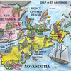 001_The Maritimes Provinces  Map