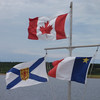 0127_Canada, Nova Scotia and Acadia Flags