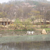 286_Korean Folk Village  Narootbae  Ferryboat  Operated to cross river  Used in a multifunctional way to deliver goods, catch fish and transport passangers jpg