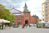 Östermalm market hall is  located at Nybro Way and Hops Farm Way's corner against Östermalmstorg on Östermalm in central Stockholm. It was built in 1888 under the auspices of the Baltic Saluhallar AB .Östermalm hall is a marketplace for the public in  food