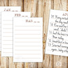 Daily Journal Cards - Lined Refill Cards for Gratitude Journal, Perpetual Calendar Box