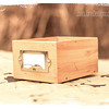 Library Card Catalog Style Rustic Wooden Box Drawer for Index Cards, Recipes, Photos