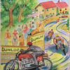 Isle of Man TT Race, circa 1954, watercolor 11x15, completed nov 2, 2014  (2)