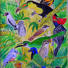 Birds of the Yucatan #2 - 9x12, color pencil, watercolor, pen,  completed aug 9, 2014 CIMG0187ss