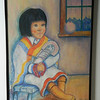 59 Hopi Girl with Kachina - pastel on paper, 24x18. NFS