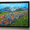 40 Tour de France - Climbing Col du Galibier - oil & acrylic,16x20. $300