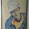 12 The Duke: A study of John Wayne - pastel on paper, 36x24. NFS