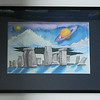48 Stonehenge on Titan - watercolor, 14x21. $500