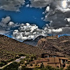 Billowing clouds above the Catalina Foothills.
