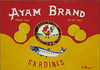 """Ayam Brand Sardines in Tomato Sauce"", 2010, casein on board, 5"" x 7"""