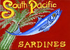 """South Pacific Sardines"", 2013, egg tempera on hardboard, 5"" x 7"""