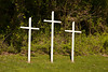 Three Crosses at Scottown Chapel Church, Lawrence County, Ohio