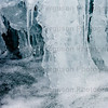 'roaring mill' Glen Nevis River Fort William.Frozen waterfall during extreme weather conditions.