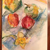 """Still Life""- pencil and watercolor on arches. SOLD"