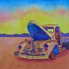 1-Abandoned Truck #1  10 5x14, watercolor, march 27, 2015 CIMG9663ss