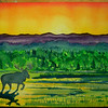 Adirondack Moose at sunrise, 10x14 watercolor  may 23, 2013 CIMG8687ss