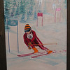 Olympic Skier - Lake Placid, dec 25, 1978, oil, 12x16