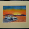 33  Salt Flat Pickup, Nevada - watercolor, 10x14  DSCN2620s