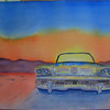 Desert Roadmaster, 10x14 watercolor, completed aug 9, 2013 CIMG8887ss